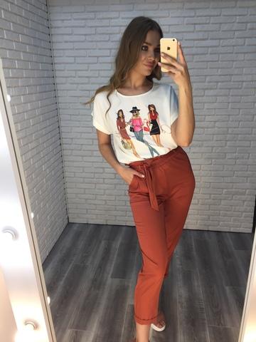 Костюм с белой блузкой и брюками Nadya