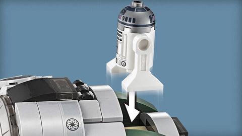 LEGO Star Wars: Звёздный истребитель Йоды 75168 — Yoda's Jedi Starfighter — Лего Звездные войны Стар Ворз