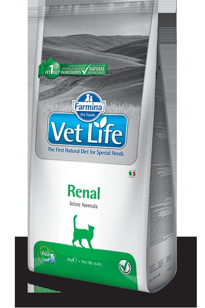 Сухой корм Ветеринарный корм для кошек, FARMINA Vet Life RENAL, при почечной или сердечной недостаточности farmina-vet-life-feline-renal_web.png