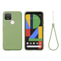 Силиконовый противоударный чехол Aioria для Google Pixel 5 (Зеленый)