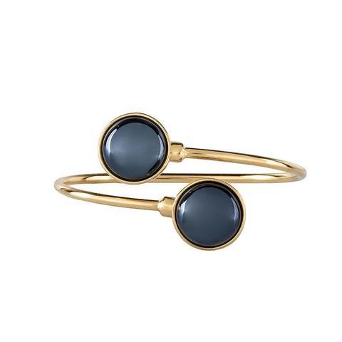 Браслет pearl black agate C1366.4 BW/G