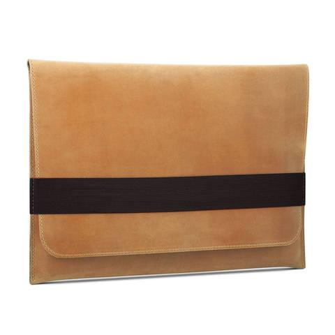 Винтажный горизонтальный кожаный чехол Gmakin для MacBook