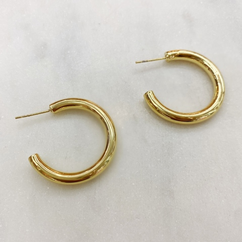Серьги-конго объемные 3см ш925 (золотистый)