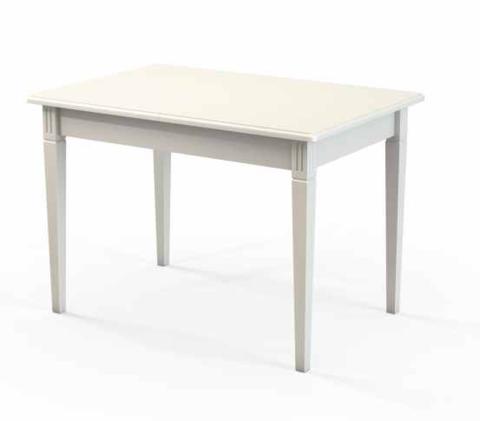 Стол обеденный Барсук деревянный прямоугольный белый