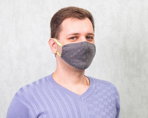 Хлопковая маска для взрослых «Серая»
