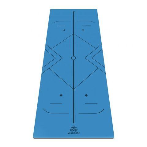 Каучуковый йога коврик Atman  185*68*0,4 см