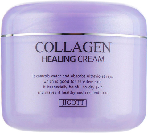 JIGOTT Восстанавливающий крем для лица с коллагеном COLLAGEN HEALING CREAM 100мл