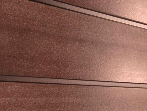Профиль ДПК для заборов - SW Agger глянцевый. Цвет терракот.