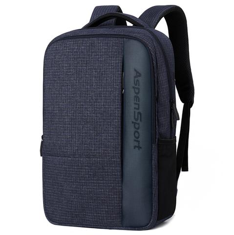 Рюкзак ASPEN SPORT AS-B96 Клетка Синий