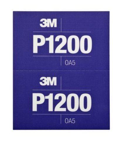 3М Лист Hookit™ абразивный, гибкий, Р1200, 170мм х 140мм 34342