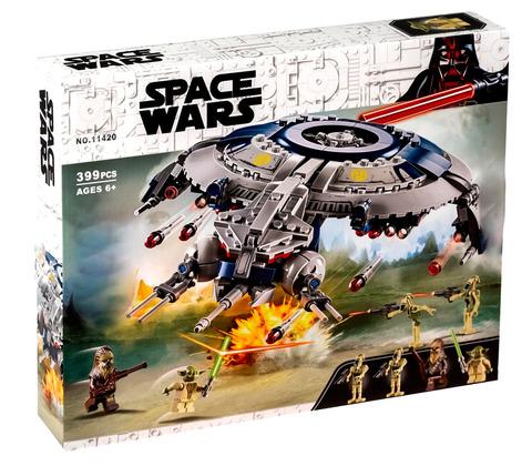 Конструктор Space Wars Звездные воины Дроид-истребитель 11420, 399 дет.