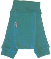 Пеленальные штанишки короткие Babyidea Wool Shorties, Бирюзовый (шерсть мериноса 100%)