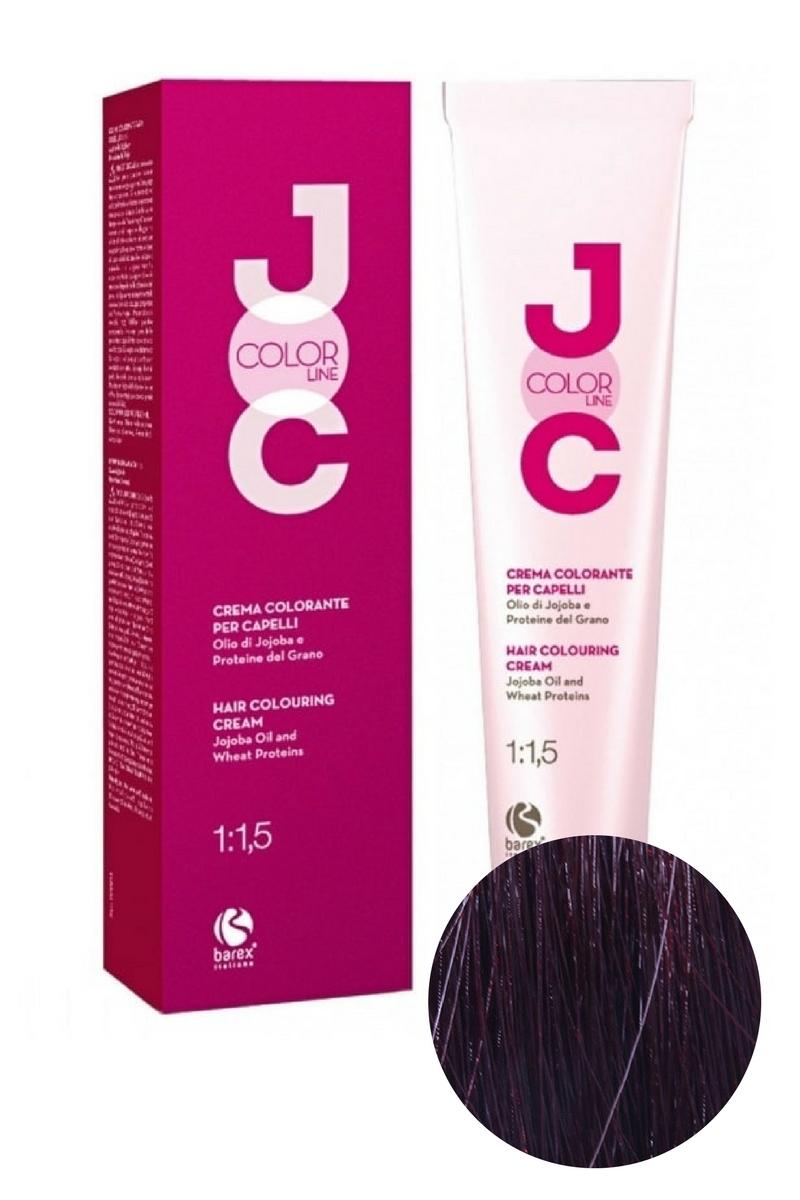 Крем-краска для волос 5.63 светло-каштановый красная слива JOC COLOR, Barex