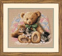 DIMENSIONS Мишка и котята (Teddy and Kittens)