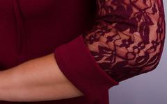 Ля Руж. Шикарне плаття плюс сайз. Бордо.