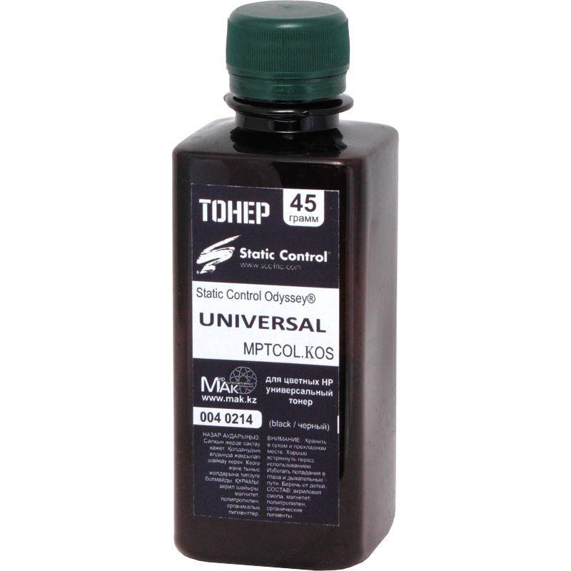 Тонер цветной Static Control© Odyssey® MPTCOL.KOS.0045 черный (black), 45г, расфасовано компанией МАК из сырья Static Control MPTCOL.