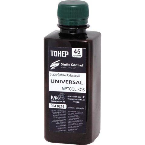 Тонер цветной Static Control© Odyssey® MPTCOL.KOS.0045 черный (black), 45г, расфасовано компанией МАК из сырья Static Control MPTCOL. - купить в компании MAKtorg