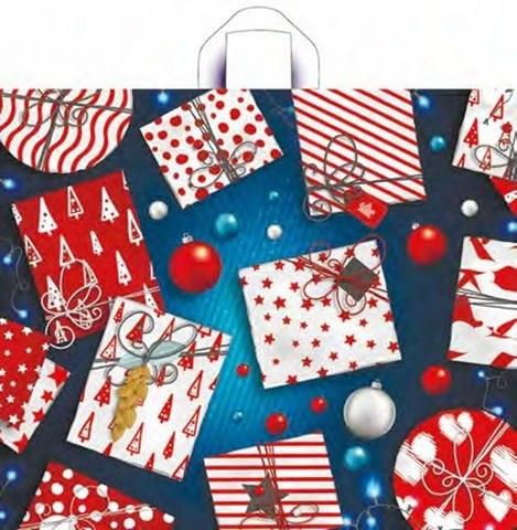Новогодний пакет 60х50+11 (60)  (Яркие подарки) 50 шт
