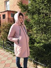 Зимняя куртка 2 в 1 цвет пудра