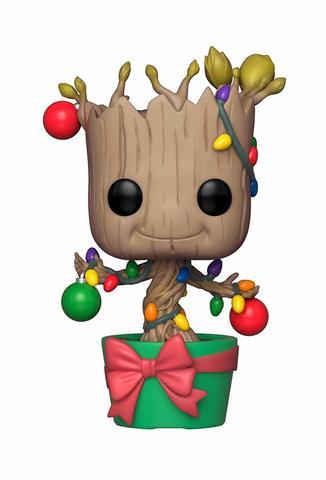 Фигурка Funko Bobble: Marvel: Holiday: Groot w/ Lights & Ornaments 33982