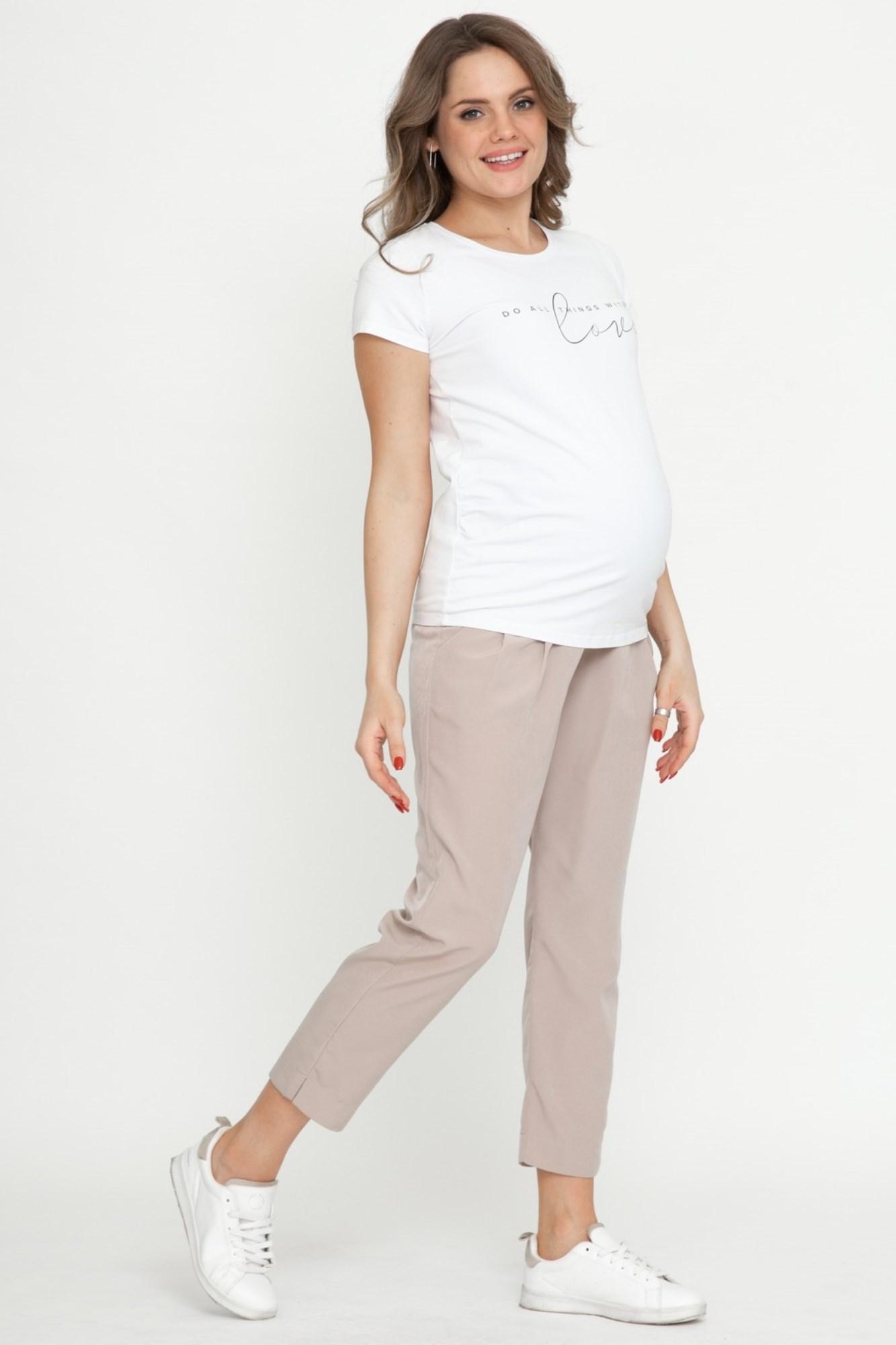 Брюки для беременных 02701 бежевый