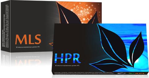 APL. Набор Аккумулированные драже APLGO MLS+HPR от паразитов, для очищения и восстановления печени по 1 блистеру