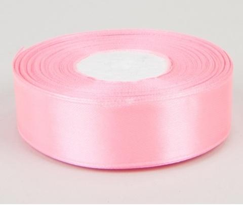 Лента атласная (размер 25 мм х 30 м) Цвет: розовая