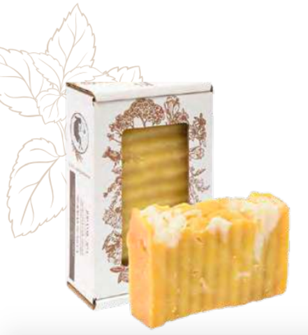 Мыло для душа «Медовая мелисса» балансирующее. Сварено из растительных масел горячим способом, 110 ± 10 г