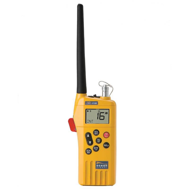 Ocean Signal GMDSS Handheld Radio Kit with accessory socket V100A