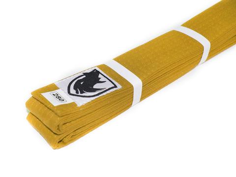 Пояс RHINO для кимоно карате. Цвет жёлтый. Длина 2,80 м. Материал:  хлопок.