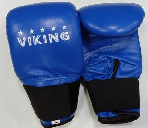 Перчатки Viking снарядные арт.V2458 (кожа) р.L, цв.синий (15902)