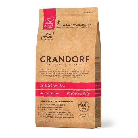 Grandorf  для взрослых собак средних пород, ягненок с коричневым рисом 12 кг