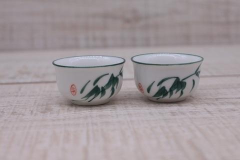 Чашка  с зеленой травой, фарфор, 20мл