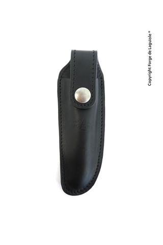 Чехол кожаный на пояс для складного ножа с лезвием 12 см. черного цвета., Forge de Laguiole, дизайн AUBRAC A 3 N