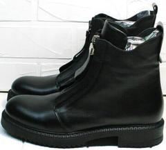 Ботиночки на осень ботинки на молнии спереди Tina Shoes 292-01 Black.