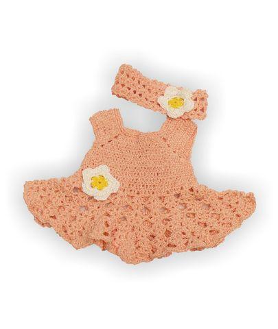 Вязаный сарафан и полоска - Розовый. Одежда для кукол, пупсов и мягких игрушек.