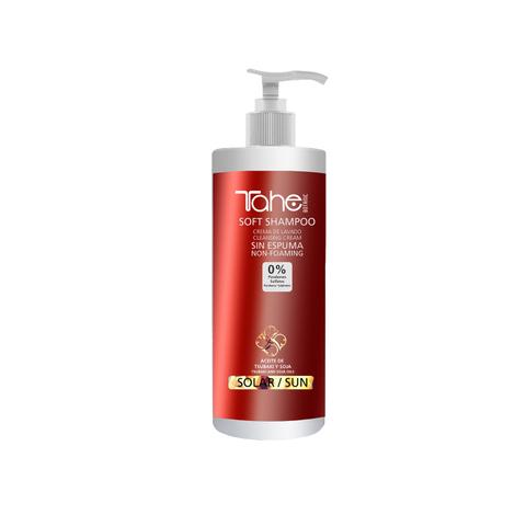 BOTANIC SOFT EFFECT SOLAR SHAMPOO Бессульфатный очищающий шампунь с кремовой текстурой для защиты волос от солнца 400 мл