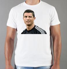 Футболка с принтом Криштиану Роналду (Cristiano Ronaldo) белая 0013