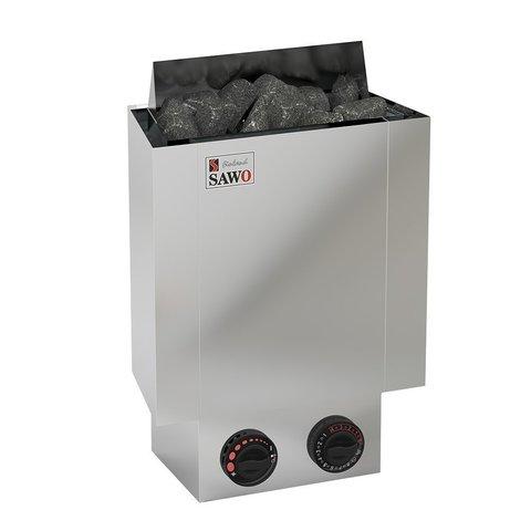 Электрическая печь SAWO NORDEX MINI NRMN-30NB-Z (3,0 кВт, встроенный пульт, внутри оцинковка, снаружи нержавейка)