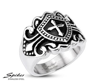R-H3909 Мужской перстень с крестом («Spikes»)