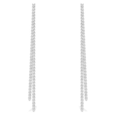 AE9782OX- Серьги длинные из серебра в  стиле APM MONACO