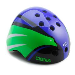 Шлем велосипедный детский Cigna WT-025 (синий/зелёный/чёрный)