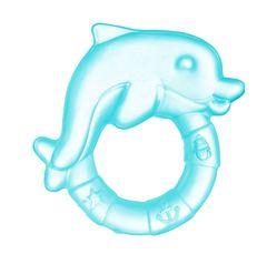 Canpol babies. Прорезыватель водный охлаждающий Дельфин, 0+, голубой