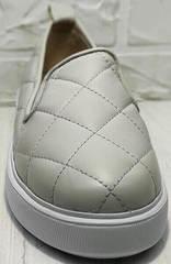 Красивые слипоны туфли без каблука Alpino 21YA-Y2859 Cream.