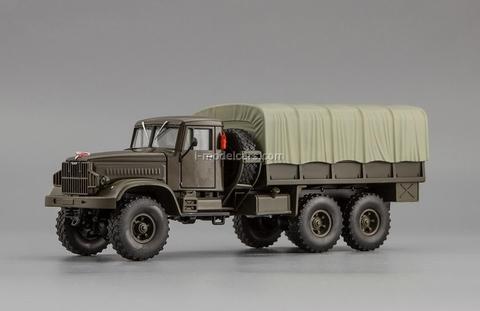 KRAZ-214B 1963-1967 khaki 1:43 Nash Avtoprom
