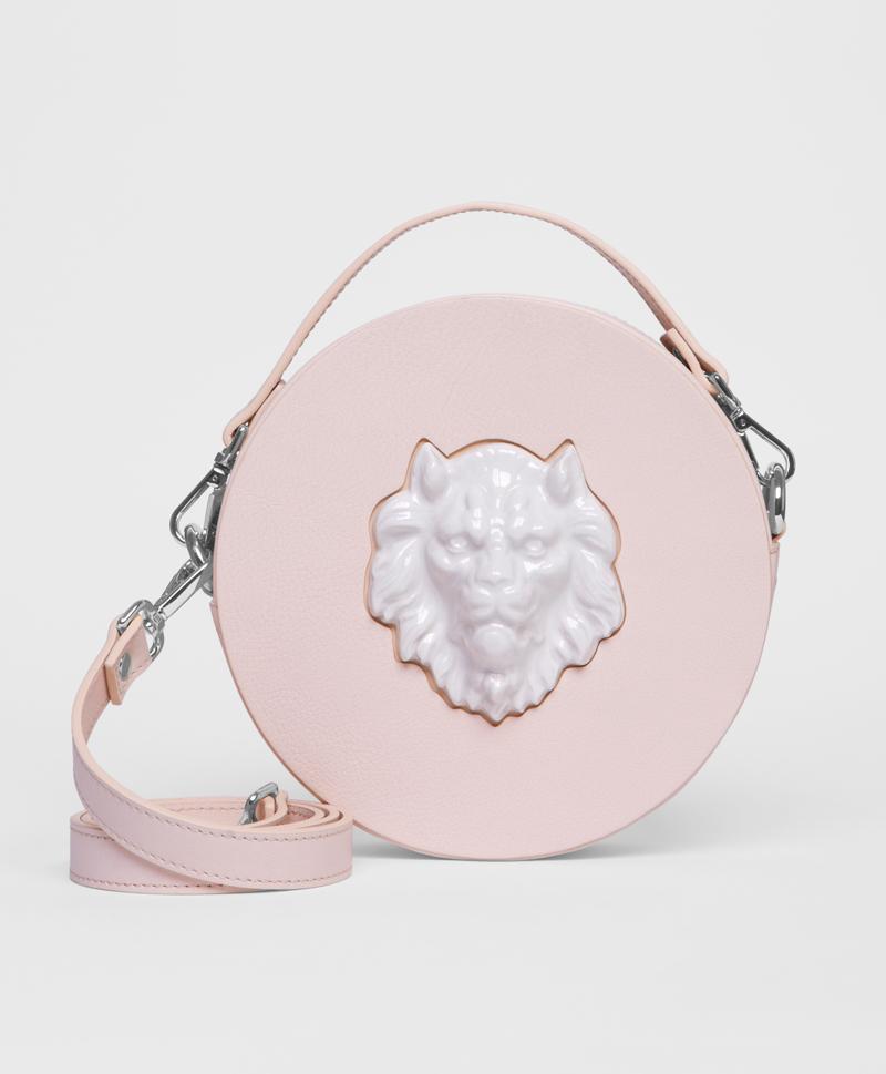 Круглая сумка из кожи Lion Natural