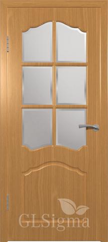 Дверь GreenLine Sigma-32, стекло дельта бронза, цвет миланский орех, остекленная