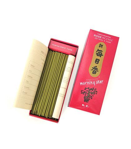 Японские благовония Morning Star Rose 200 шт