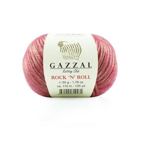 Пряжа Gazzal Rock n Roll 13190 зимняя ягода