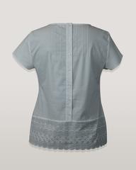 Блузка Milena 4833 спинка пуговицы шитье к/р